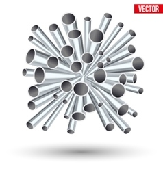 Sheaf of metal pipes vector