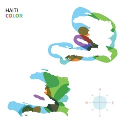 Abstract color map of Haiti vector image vector image