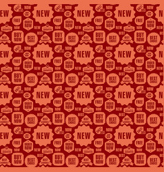 Advertising seamless pattern vector
