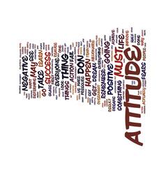 Attitude text background word cloud concept vector