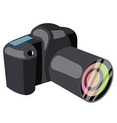 black professional camera vector image