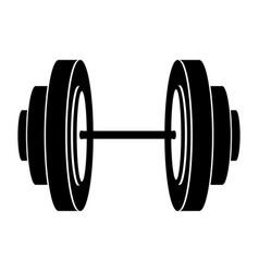 Black silhouette dumbbell for training in gym vector