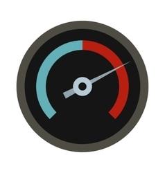 Black tachometer icon flat style vector