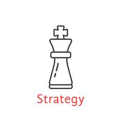 Black thin line chess king vector
