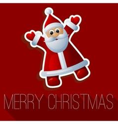 Christmas Santa card vector image