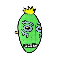Comic cartoon tribal mask vector