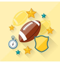 Concept of american football in flat design style vector