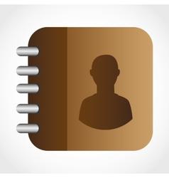 Contacts book design vector