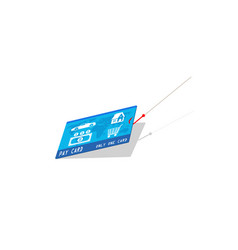 Credit card with hook vector