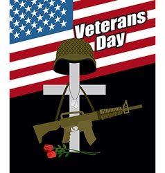 Day of remembrance for war veterans veterans day vector