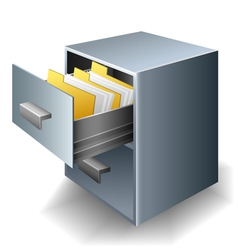 File cabinet vector image