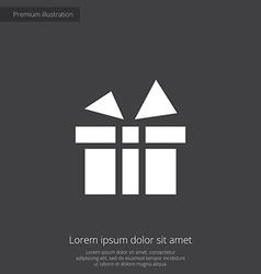 gift premium icon vector image