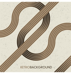 intersection retro lines vector image vector image