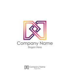 m initial letter logo infinity letter dd design vector image vector image