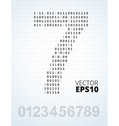 Number 0-9 alphabet from binary code vector image vector image