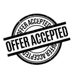 Offer accepted rubber stamp vector
