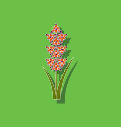 Paper sticker on background of gladiolus vector