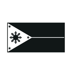 philippines flag monochrome on white background vector image vector image