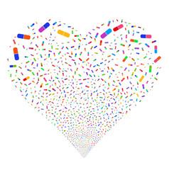 pill fireworks heart vector image