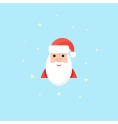 Santa Icon in flat style Christmas symbol vector image