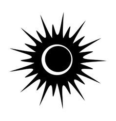 Solar eclipse single black icon vector