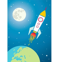 Spacecraft in space vector