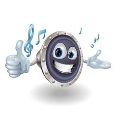 Speaker mascot vector