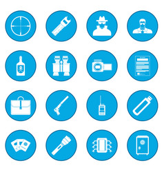 Spy icon blue vector