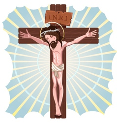 The Crucifixion of Jesus Christ vector image vector image