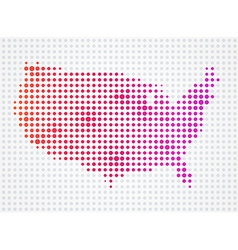 USA Dot Map vector image