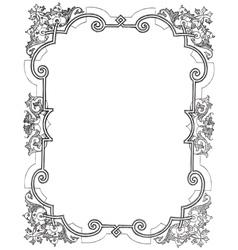 Vine frame vector