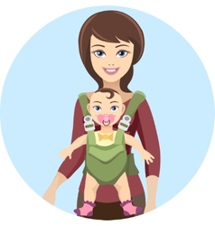 Young mother with baby vector image
