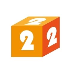 cube number block icon graphic vector image
