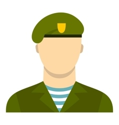 Army soldier icon flat style vector