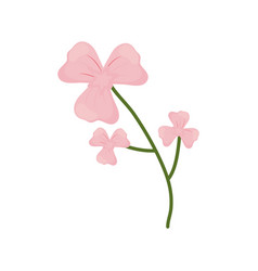 lily flower branch spring icon vector image