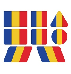 Buttons with flag of romania vector