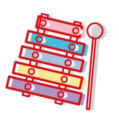 Marimba music instrument to melody harmony vector