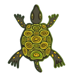 Funky turtle vector