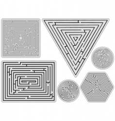 mazes collection vector image