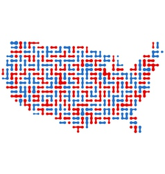 Usa abstract map vector