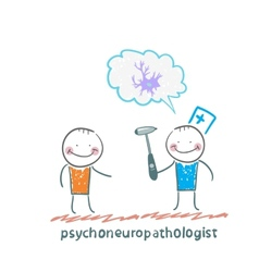 Psychoneuropathologist speaks with the patient vector