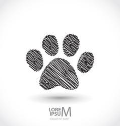 Animal footprint vector image