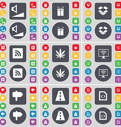 Volume gift dropbox rss marijuana monitor signpost vector