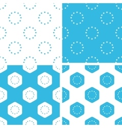 Eu emblem patterns set vector
