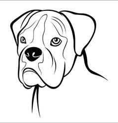 German boxer vector image