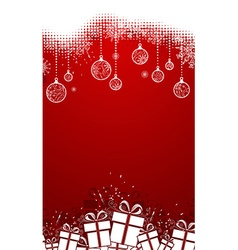 Red vertical christmas backgroun vector