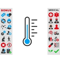 Temperature level icon vector