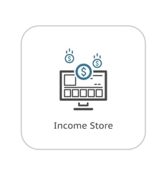 Income store icon business concept vector