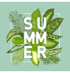 Summer design tropical leaves background vector