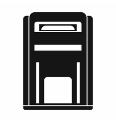 Square post box icon simple style vector